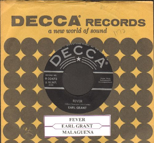 Grant, Earl - Fever (RARE vocal version)/Malaguena (with vintage Decca company sleeve and juke box label) - NM9/ - 45 rpm Records