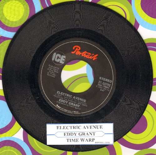 Grant, Eddy - Electric Avenue/Time Warp (with juke box label) - VG7/ - 45 rpm Records