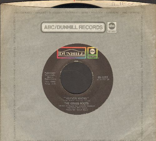 Grass Roots - Heaven Knows/Don't Remind Me (with company sleeve) - EX8/ - 45 rpm Records