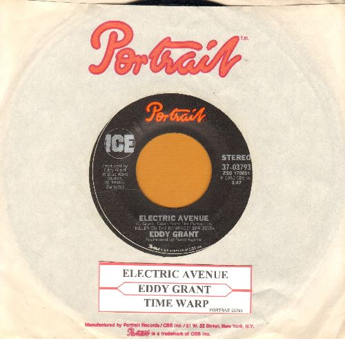 Grant, Eddy - Electric Avenue/Time Warp (with Portrait company sleeve and juke box label) - EX8/ - 45 rpm Records