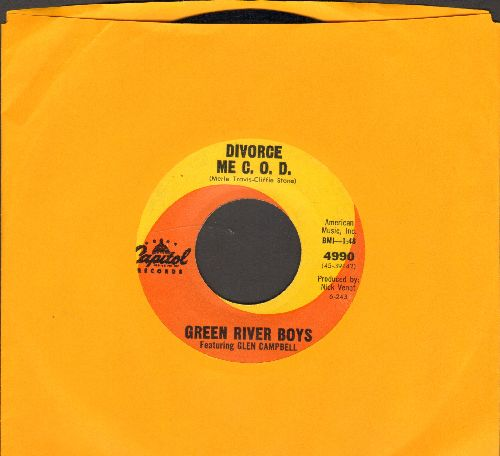 Green River Boys featuring Glen Campbell - Divorce Me C.O.D./Dark As A Dungeon - EX8/ - 45 rpm Records