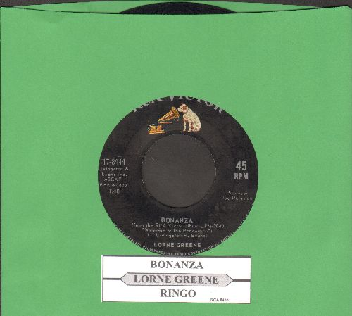 Greene, Lorne - Ringo/Bonanza (with juke box label) - EX8/ - 45 rpm Records
