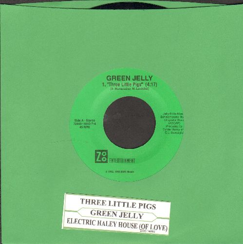 Green Jelly - Three Little Pigs/Electric Harley House (LIVE) (with juke box label) - NM9/ - 45 rpm Records