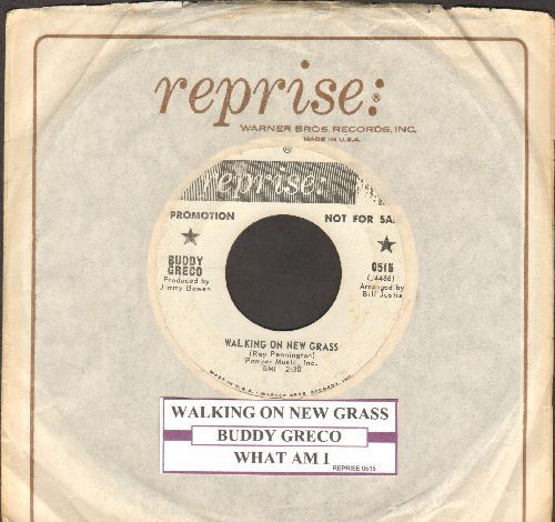 Greco, Buddy - Walking On New Grass/What Am I (DJ advance pressing with juke box label and Reprise company sleeve) - EX8/ - 45 rpm Records