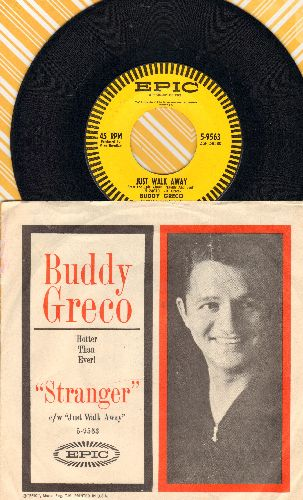 Greco, Buddy - Just Walk Away/Stranger (with picture sleeve) - NM9/EX8 - 45 rpm Records