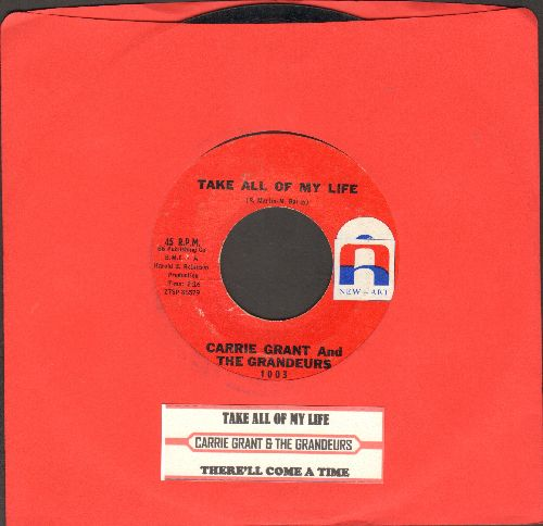 Grant, Carrie & The Grandeurs - Take All Of My Life/There'll Come A Time (FANTASTIC Vintage Girl-Sound 2-sider with juke box label) - EX8/ - 45 rpm Records