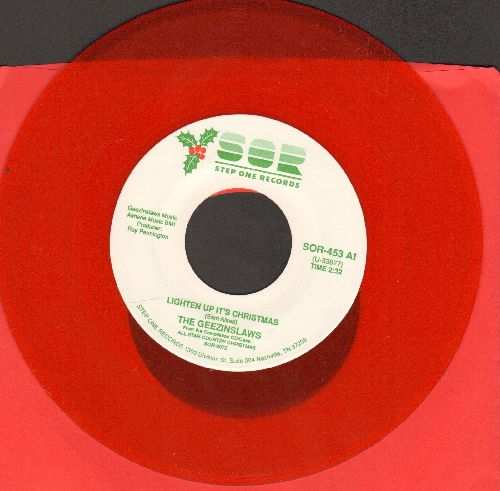 Geezinlaws - Lighten Up It's Christmas/Merry Christmas Baby (RED vinyl pressing) - NM9/ - 45 rpm Records