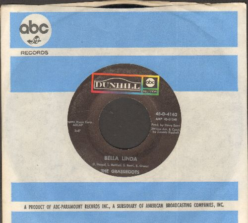 Grassroots - Bella Linda/Hot Bright Lights (with company sleeve) - NM9/ - 45 rpm Records