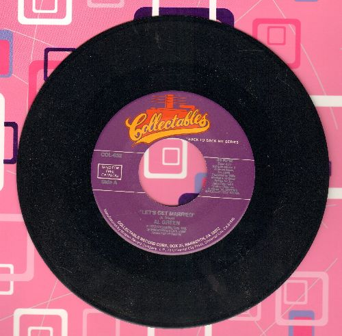Green, Al - Let's Get Married/Sha-La-La (Make aMe Happy) (double-hit re-issue) - NM9/ - 45 rpm Records
