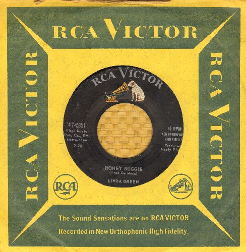 Green, Linda - Honey Boogie/Traded Off (with RCA company sleeve) - VG7/ - 45 rpm Records