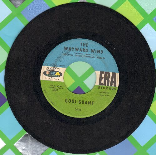 Grant, Gogi - The Wayward Wind/No More Than Forever (blue/green label pressing) - EX8/ - 45 rpm Records