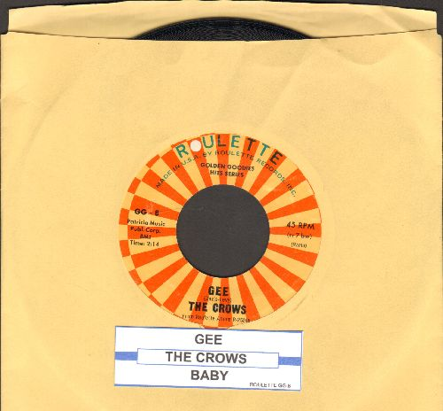 Crows - Gee/Baby (double-hit re-issue with juke box label) - NM9/ - 45 rpm Records