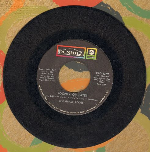 Grass Roots - Sooner Or Later/I Can Turn Off The Rain  - VG7/ - 45 rpm Records