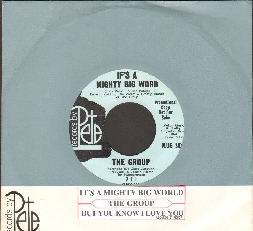 Group - If's A Mighty Big Word/But You Know I Love You (DJ advance pressing with company sleeve and juke box label) - NM9/ - 45 rpm Records