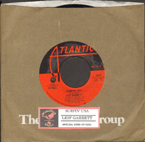 Garrett, Leif - Surfin' USA/Special Kind Of Girl (with juke box label and Atlantic company sleeve) - NM9/ - 45 rpm Records