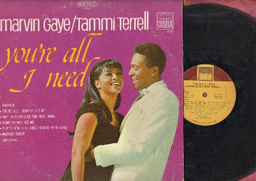 Gaye, Marvin & Tammi Terrell - You're All I Need To Get By: Ain't Nothing Like The real Thing, Come On And See Me, Memory Chest (vinyl STEREO LP record) - VG6/VG7 - LP Records
