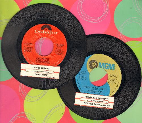 Gaynor, Gloria - 2 first issue 45rpm records with juke box label for the price of 1! - Hits include Never Can Say Goodbye and I Will Survive. Shipped in plain paper sleeves. GREAT for a juke box! - EX8/ - 45 rpm Records