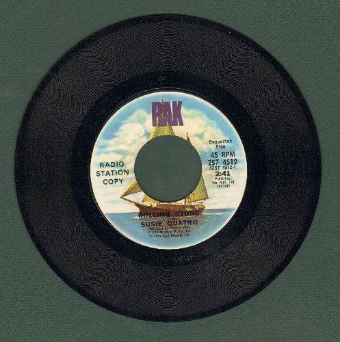 Quatro, Suzi - Rolling Stone/Brain Confusion (For All The Lonely People)(RARE Promo Pressing of pre-stardom Suzi Quatro recording) - NM9/ - 45 rpm Records