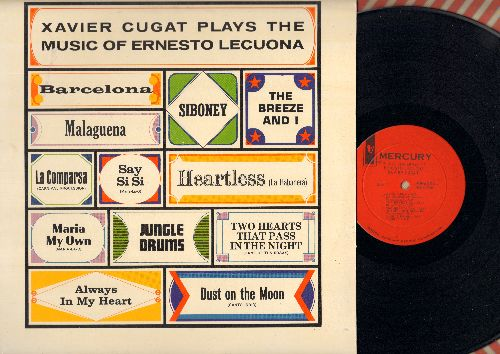 Cugat, Xavier - Xavier Cugat Plays The Music Of Ernesto Lecuona: The Breeze And I, Barcelona, Malaguena, Siboney, Jungle Drums, Say Si Si (Vinyl MONO LP record, NICE condition!) - NM9/NM9 - LP Records