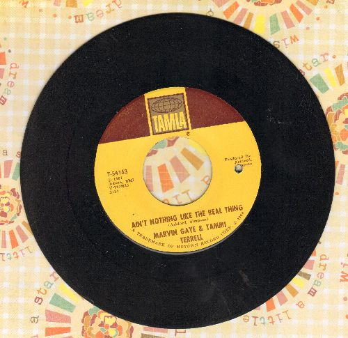 Gaye, Marvin & Tammi Terrell - Ain't Nothing Like The Real Thing/Little Old Boy, Little Ole Girl (bb) - EX8/ - 45 rpm Records