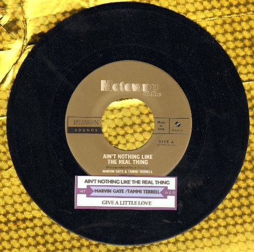 Gaye, Marvin & Tammi Terrell - Ain't Nothing Like The Real Thing/Give A Little Love  (Restoration Hardware Sounds re-issue with juke box label) - M10/ - 45 rpm Records