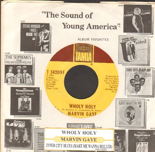 Gaye, Marvin - Wholy Holy/Inner City Blues (Make Me Wanna Holler) (with juke box label and company sleeve) - NM9/ - 45 rpm Records