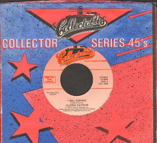 Gaynor, Gloria - I Will Survive (DISCO FAVORITE!)/Love's Theme (By Love Unlimited Orchestra on flip-side) (double-hit re-issue with Collectables company sleeve) - NM9/ - 45 rpm Records