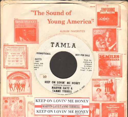 Gaye, Marvin & Tammi Terrell - Keep On Lovin' Me Honey (double-A-sided DJ advance pressing with juke box label and Motown company sleeve) - EX8/ - 45 rpm Records