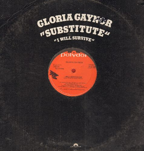 Gaynor, Gloria - I Will Survive (8:02 minutes Extended Disco Version)/Substitute (8:29 minutes Extended Disco Version) (12 inch vinyl Maxi Single) - NM9/ - Maxi Singles