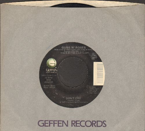 Guns N' Roses - Don't Cry (4:42 Original)/Don't Cry (4:42 Alternate Lyrics) (with Geffen company sleeve) - EX8/ - 45 rpm Records