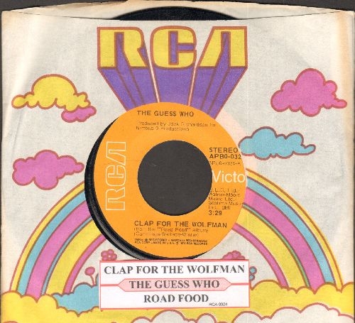 Guess Who? - Clap For The Wolfman/Road Food (with juke box label RCA company sleeve) - EX8/ - 45 rpm Records