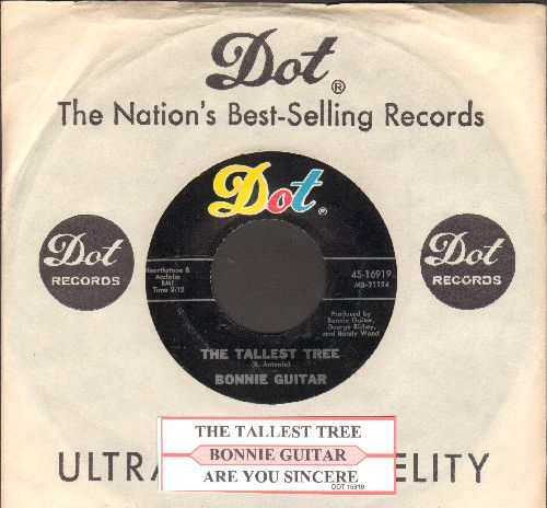 Guitar, Bonnie - The Tallest Tree/Are You Sincere (with juke box label and Dot company sleeve) - NM9/ - 45 rpm Records