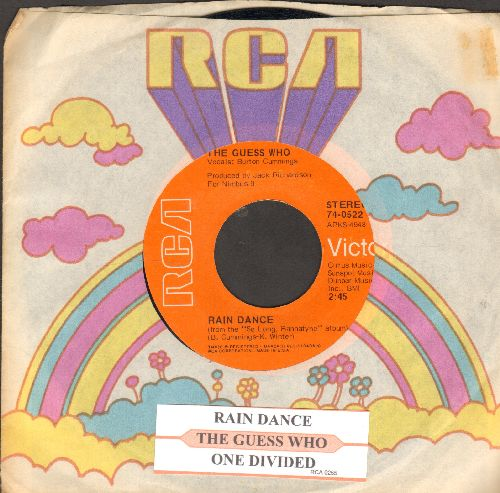 Guess Who? - Rain Dance/One Divided (with juke box label RCA company sleeve) - NM9/ - 45 rpm Records