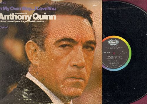 Quinn, Anthony - In My Own Way…I Love You: Fall In Love In Rome, What Is Love? Love Is A Headache, Carissima (vinyl STEREO LP record, punch hole upper left cover) - NM9/VG7 - LP Records