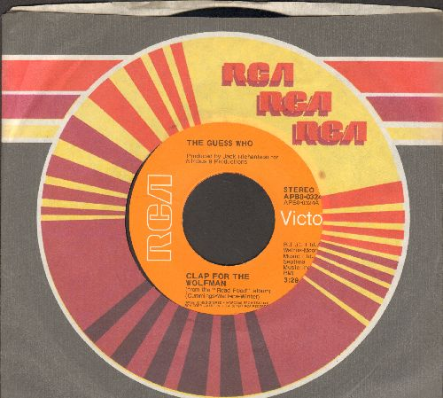Guess Who? - Clap For The Wolfman/Road Food (with RCA company sleeve) - M10/ - 45 rpm Records