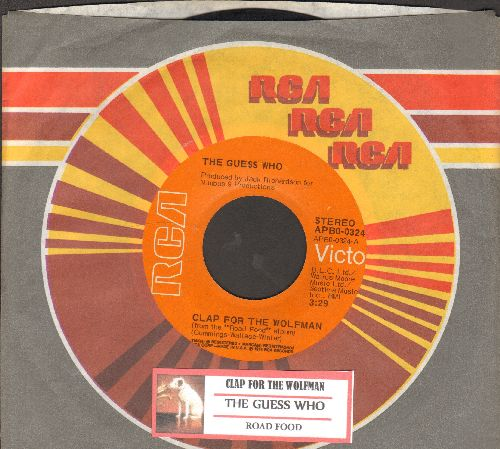 Guess Who? - Clap For The Wolfman/Road Food (with juke box label RCA company sleeve) - NM9/ - 45 rpm Records