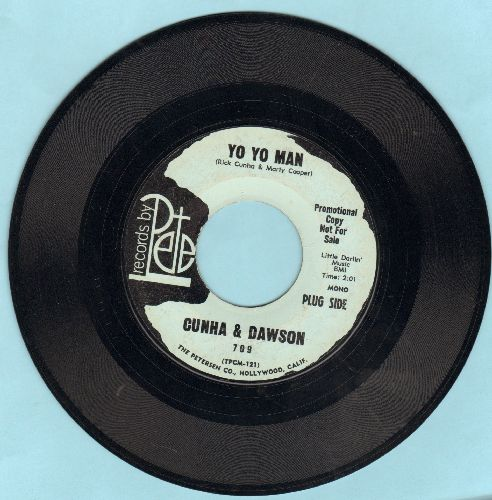 Cunha & Dawson - Yo Yo Man/Weary Blues - EX8/ - 45 rpm Records