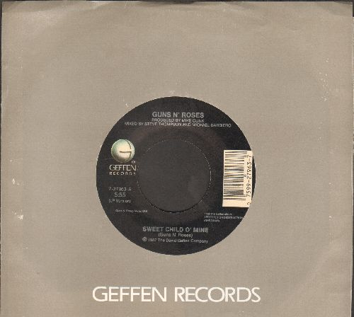Guns N' Roses - Sweet Child O'Mine (5:55 minutes)/It's So Easy (3:53 minutes) (with Geffen company sleeve) - EX8/ - 45 rpm Records