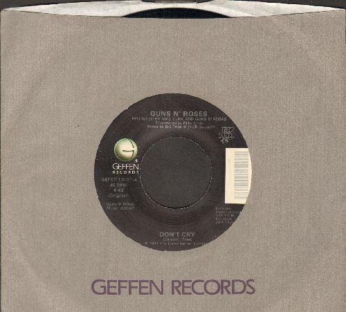 Guns N' Roses - Don't Cry/Don't Cry (alternate lyrics) (with Geffen company sleeve) - NM9/ - 45 rpm Records
