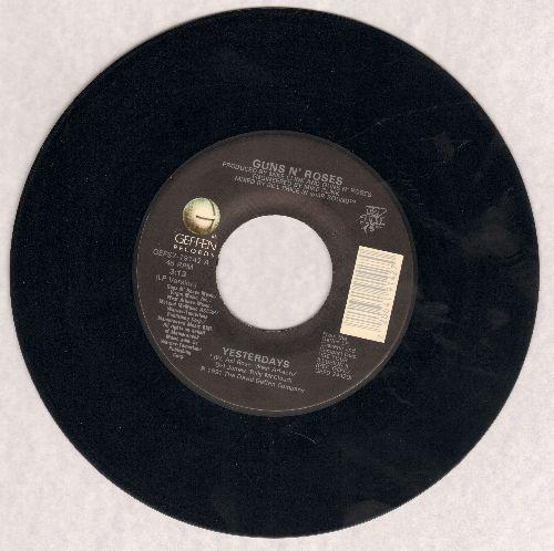 Guns N' Roses - Yesterdays (3:13 LP version)/Yesterdays (4:10 LIVE Las Vegas version) - EX8/ - 45 rpm Records