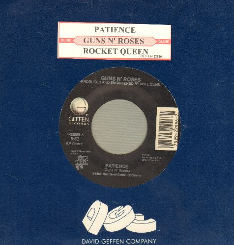 Guns N' Roses - Patience/Rocket Queen (with juke box label Geffen company sleeve) - NM9/ - 45 rpm Records