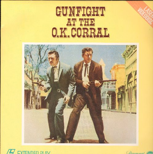 Gunfight At The O.K. Corral - Gunfight At The O.K. Corral - LASERDISC of the 1957 Western Classic starring Burt Lanchester and Kirk Douglas (this is a LASERDISC, not any other kind of media!) - NM9/NM9 - LaserDiscs