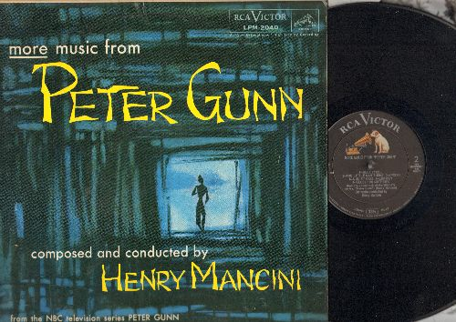 Mancini, Henry & His Orchestra - More Music From Peter Gunn (composed and conducted by Henry Mancini) (Vinyl MONO LP record) - EX8/EX8 - LP Records