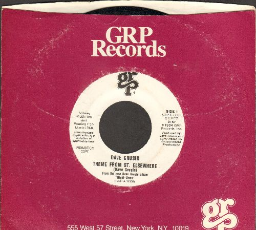 Grusin, Dave - Theme From St. Elsewhere (RARE double-A-sided DJ advance pressing with company sleeve) - NM9/ - 45 rpm Records