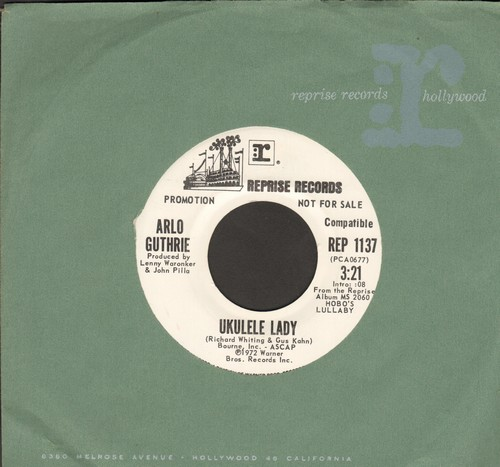 Guthrie, Arlo - Ukelele Lady/Cooper's Lament (DJ advance pressing with Reprise company sleeve, MINT condition!) - M10/ - 45 rpm Records