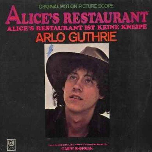 Guthrie, Arlo - Alice's Restaurant: Original Motion Picture Score (Vinyl STEREO LP record, German Pressing) - NM9/EX8 - LP Records