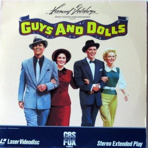 Guys And Dolls - Guys And Dolls - Laser Disc version of the Classic 1955 Musical starring Marlon Brando, Jean Simmons, Vivian Blaine and Frank Sinatra  (This is a set of 2 LASER DISCS, NOT ANY OTHER KIND OF MEDIA!) - NM9/EX8 - Laser Discs