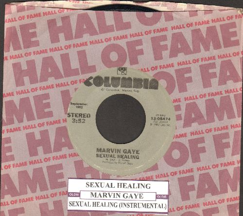 Gaye, Marvin - Sexual Healing/Sexual Healing (Instrumntal) (re-issue with company sleeve and juke box label) - NM9/ - 45 rpm Records