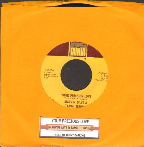 Gaye, Marvin & Tammi Terrell - Your Precious Love/Hold Me Oh My Darling (with juke box label) - NM9/ - 45 rpm Records