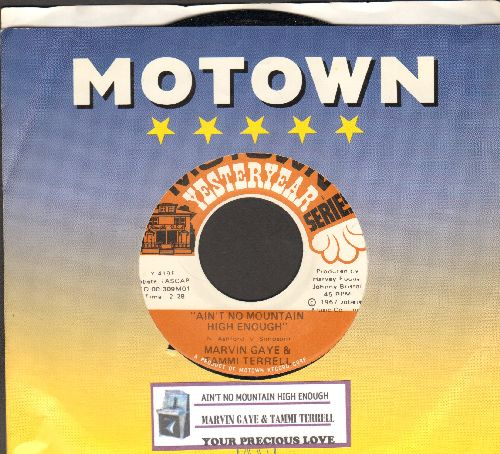Gaye, Marvin & Tammi Terrell - Ain't Nothing Like The Real Thing/Your Precious Love (double-hit re-issue with juke box label and Motown company sleeve) - EX8/ - 45 rpm Records